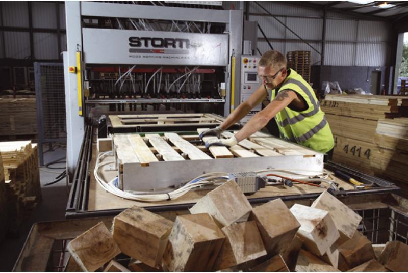 Darbas palečių gamyboje Švedijoje