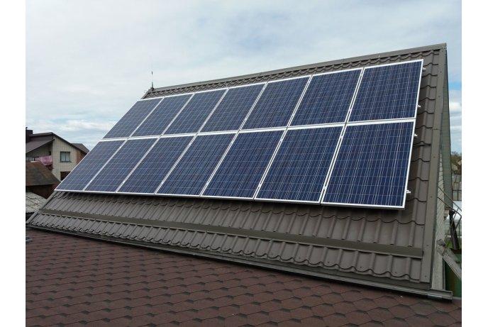 Saulės baterijų montavimas