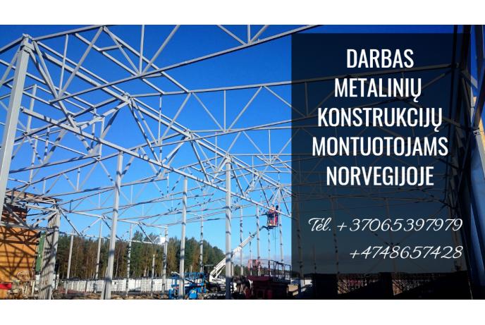 Darbas metalinių konstrukcijų montuotojams Norvegijoje