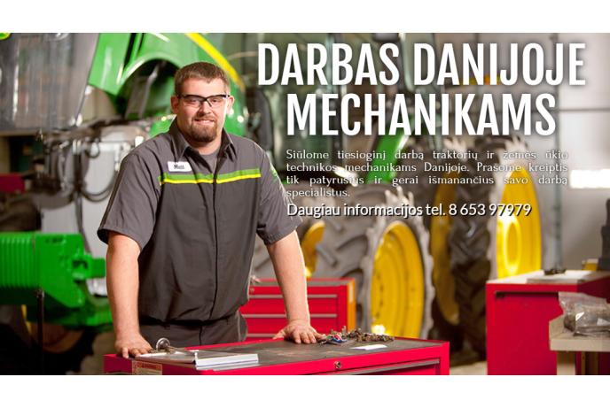 Darbas Danijoje sunkiasvorės technikos mechanikams